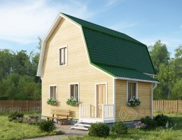 Каркасно-щитовой дом 6х6 м